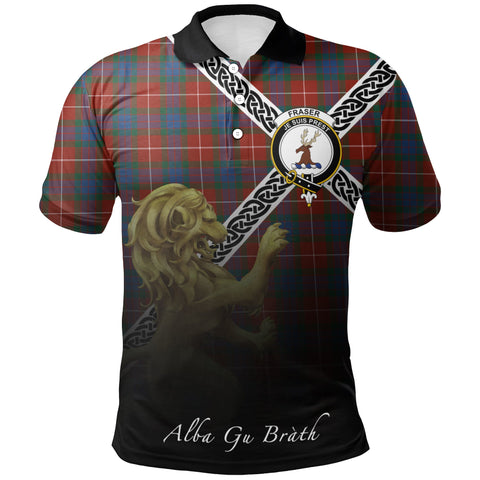 Image of Fraser Ancient Polo Shirts Tartan Crest Celtic Scotland Lion A30