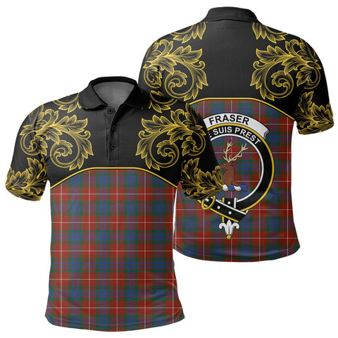 Image of Fraser Ancient Tartan Clan Crest Polo Shirt - Empire I - HJT4