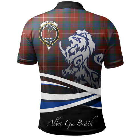 Image of Fraser Ancient Polo Shirts Tartan Crest Scotland Lion A30