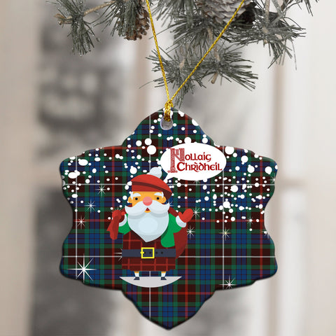 Fraser Hunting Ancient Tartan Christmas Ornament - Nollaig Chridheil Scottish Santa A7