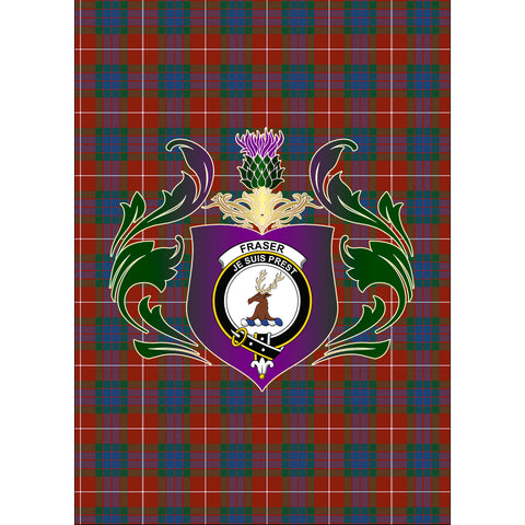 Fraser Ancient Clan Garden Flag Royal Thistle Of Clan Badge