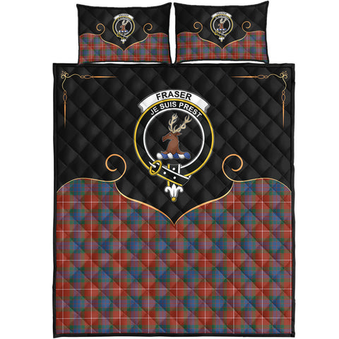 Fraser Ancient Clan Cherish the Badge Quilt Bed Set