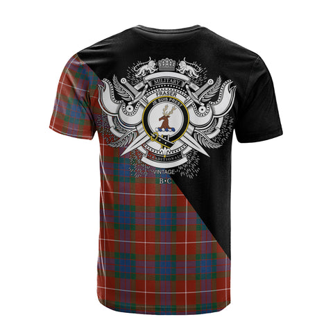 Image of Fraser Ancient Clan Military Logo T-Shirt K23