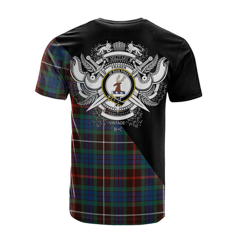 Fraser Hunting Ancient Clan Military Logo T-Shirt K23