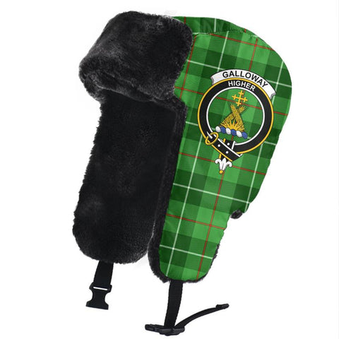 Image of Galloway District Clan Crest Tartan Trapper Hat