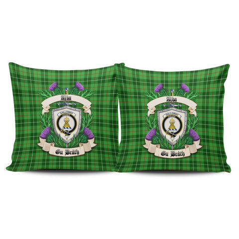Galloway District Crest Tartan Pillow Cover Thistle (Set of two) A91 | Home Set