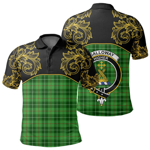 Image of Galloway District Tartan Clan Crest Polo Shirt - Empire I - HJT4