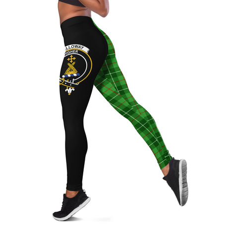 Image of Galloway District Crest Tartan Leggings | Over 500 Tartans | Special Custom Design
