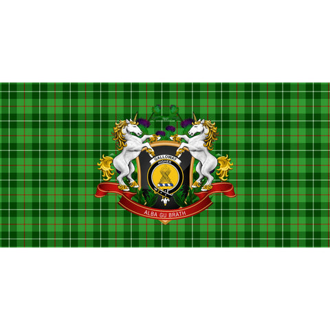 Galloway District Crest Tartan Tablecloth Unicorn Thistle A30