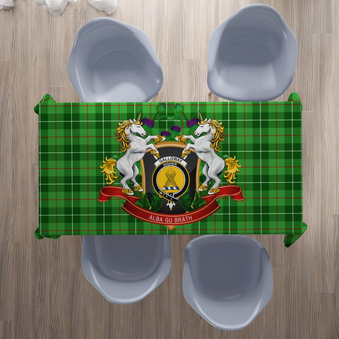 Galloway District Crest Tartan Tablecloth Unicorn Thistle | Home Decor