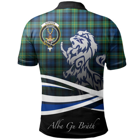Image of Gordon Ancient Polo Shirts Tartan Crest Scotland Lion A30
