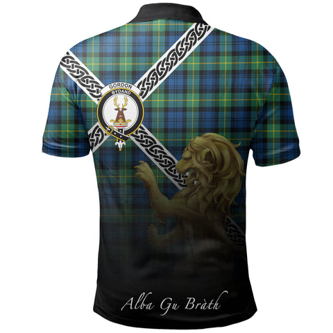 Image of Gordon Ancient Polo Shirts Tartan Crest Celtic Scotland Lion A30