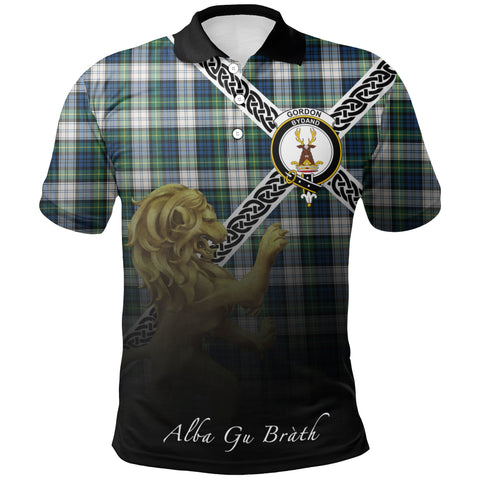 Gordon Dress Ancient Polo Shirts Tartan Crest Celtic Scotland Lion A30