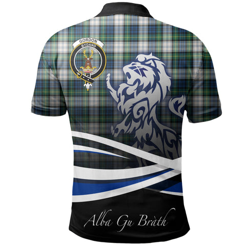 Gordon Dress Ancient Polo Shirts Tartan Crest Scotland Lion A30