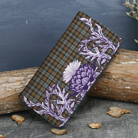 Image of Gordon Weathered Tartan Wallet Women's Leather Thistle A91
