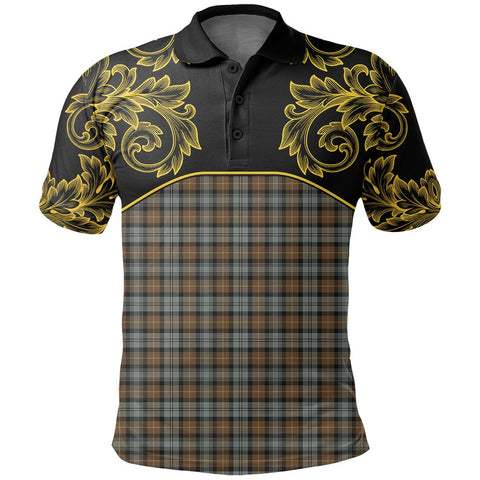 Image of Gordon Weathered Tartan Clan Crest Polo Shirt - Empire I - HJT4 - Scottish Clans Store - Tartan Clans Clothing - Scottish Tartan Shopping - Clans Crest - Shopping In scottishclans - Polo Shirt For You