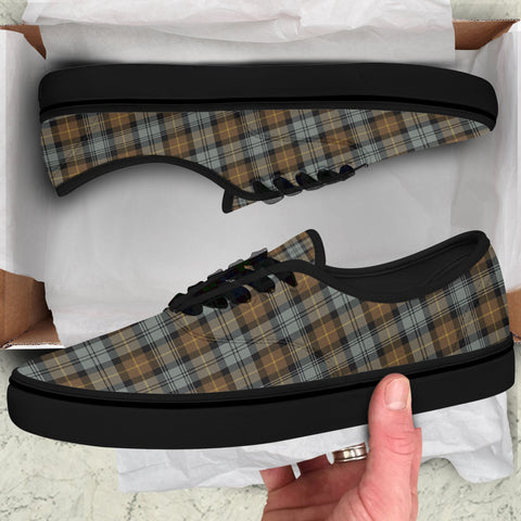 Image of Gordon Weathered Tartan Like Vans Lace Shoes (Women's/Men's) A7