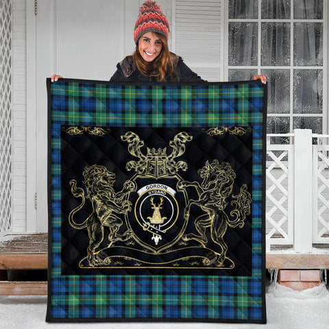 Image of Gordon Ancient Clan Royal Lion and Horse Premium Quilt