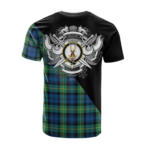 Image of Gordon Ancient Clan Military Logo T-Shirt K23
