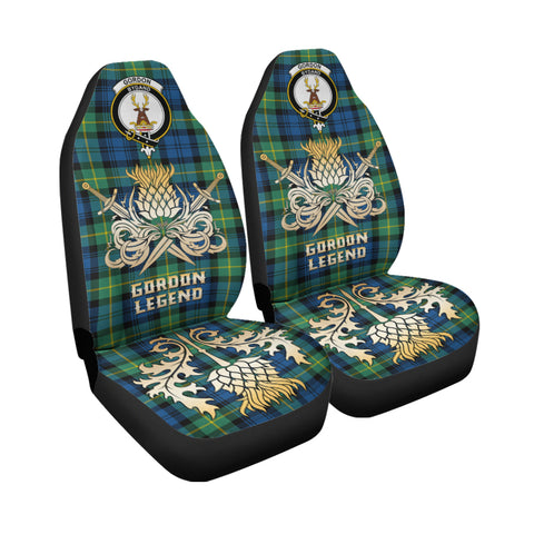 Car Seat Cover Gordon Ancient Clan Crest Gold Thistle Courage Symbol K9