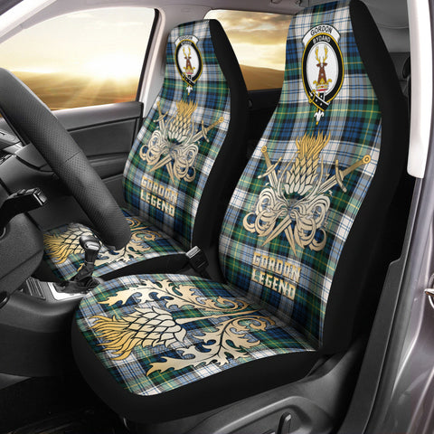 Car Seat Cover Gordon Dress Ancient Clan Crest Gold Thistle Courage Symbol