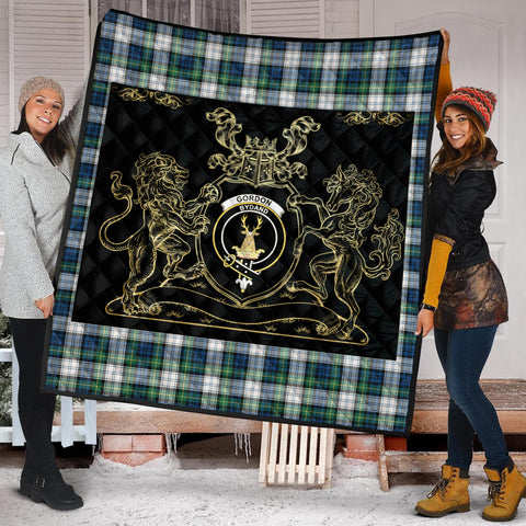 Gordon Dress Ancient Clan Royal Lion and Horse Premium Quilt