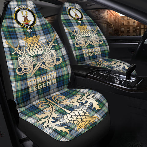 Car Seat Cover Gordon Dress Ancient Clan Crest Gold Thistle Courage Symbol K9