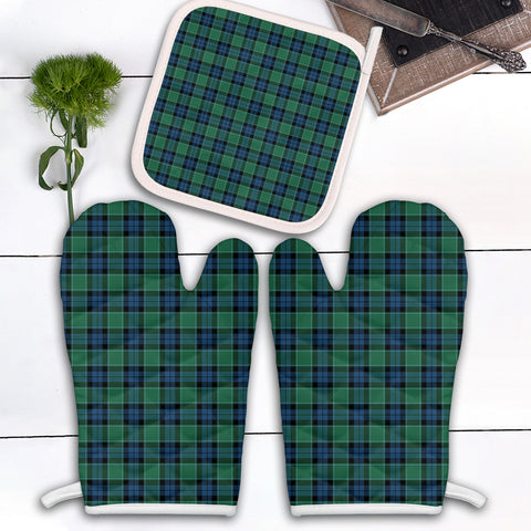 Graham of Menteith Ancient Clan Tartan Scotland Oven Mitt And Pot-Holder (Set Of Two)