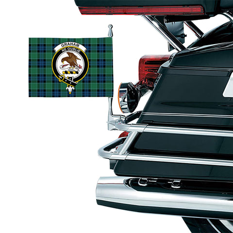 Graham of Menteith Ancient Clan Crest Tartan Motorcycle Flag