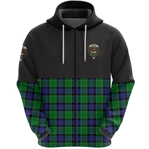 Graham of Menteith Modern Clan Zip Hoodie Half of Tartan
