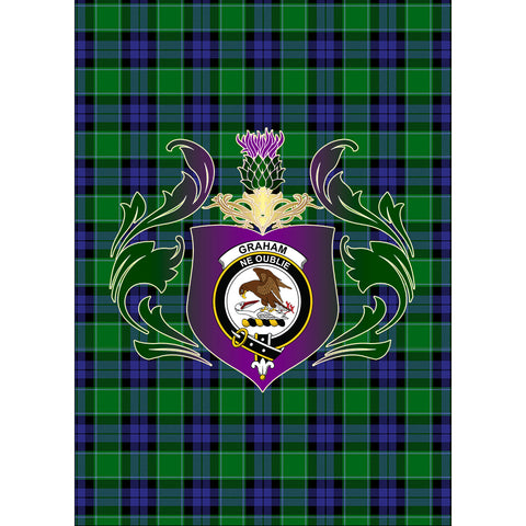 Graham of Menteith Modern Clan Garden Flag Royal Thistle Of Clan Badge