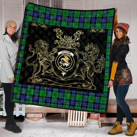 Graham of Menteith Modern Clan Royal Lion and Horse Premium Quilt