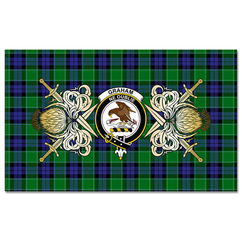 Tablecloth Graham of Menteith Modern Clan Crest Courage Symbol Special Version
