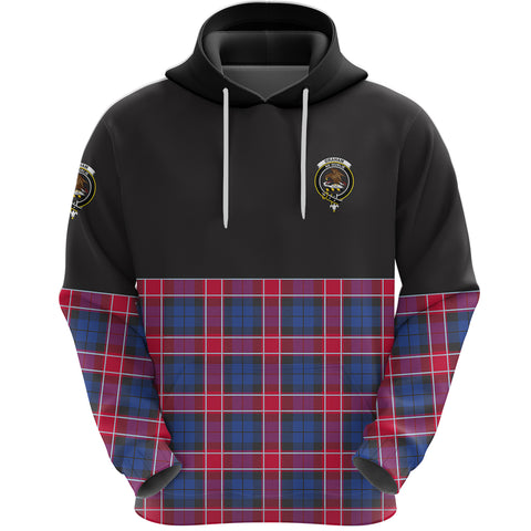Graham of Menteith Red Clan Hoodie Half Of Tartan