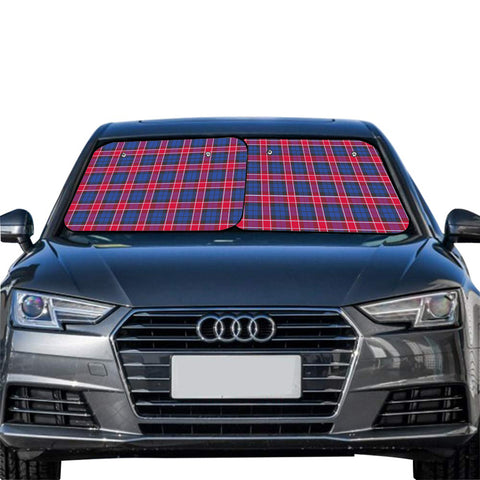 Graham of Menteith Red Clan Tartan Scotland Car Sun Shade 2pcs