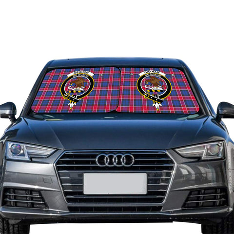 Graham of Menteith Red Clan Crest Tartan Scotland Car Sun Shade 2pcs