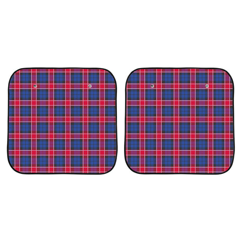Graham of Menteith Red Clan Tartan Scotland Car Sun Shade 2pcs K7