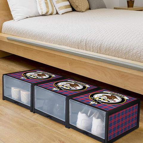 Graham of Menteith Red Clan Crest Tartan Scottish Shoe Organizers K9