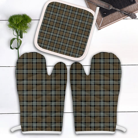 Graham of Menteith Weathered Clan Tartan Scotland Oven Mitt And Pot-Holder (Set Of Two)