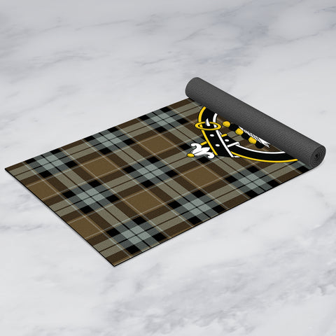 Image of Graham of Menteith Weathered Clan Crest Tartan Yoga mats
