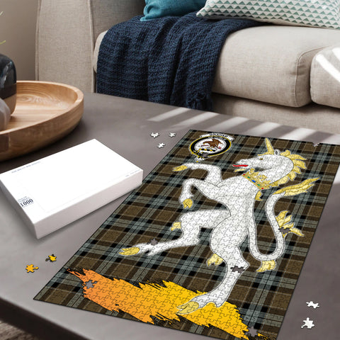 Graham of Menteith Weathered Clan Crest Tartan Unicorn Scotland Jigsaw Puzzle