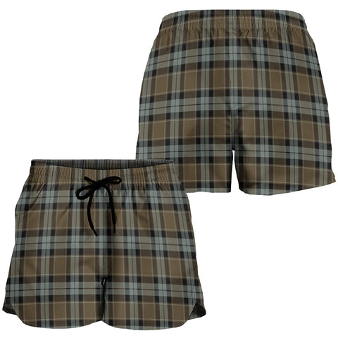 Graham of Menteith Weathered Crest Tartan Shorts For Women K7