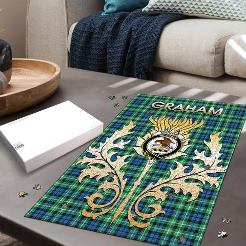 Graham of Montrose Ancient Clan Name Crest Tartan Thistle Scotland Jigsaw Puzzle