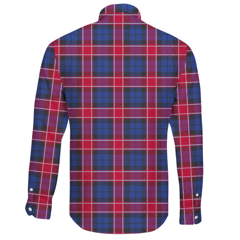 Graham of Menteith Red Tartan Clan Long Sleeve Button Shirt A91