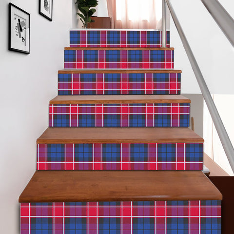 Scottishshop Tartan Stair Stickers - Graham of Menteith Red Stair Stickers A91
