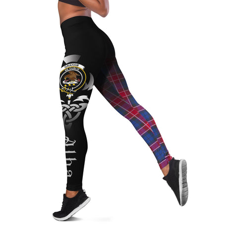 Graham of Menteith Red Crest Tartan Alba Celtic Leggings | Over 500 Tartans | Special Custom Design