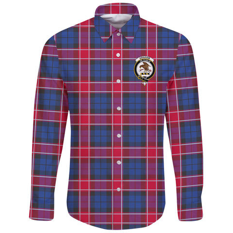 Graham of Menteith Red Tartan Clan Long Sleeve Button Shirt | Scottish Clan