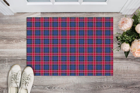 Graham of Menteith Red Tartan Carpets Front Door A91