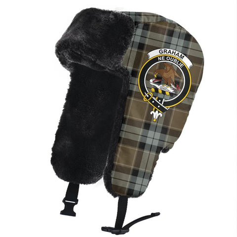 Graham of Menteith Weathered Clan Crest Tartan Trapper Hat