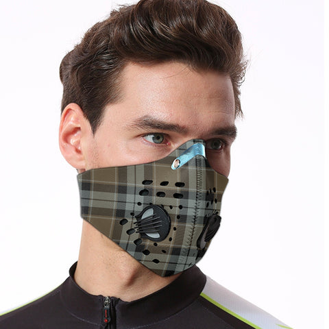 Graham of Menteith Weathered Tartan Dust-proof Sports Masks ( Model 1) - TH88 (USA Shipping Line)